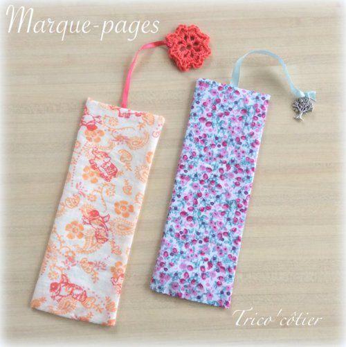 Marque-page en tissu avec TUTO - idéal pour utiliser les chutes - Bookmark sew