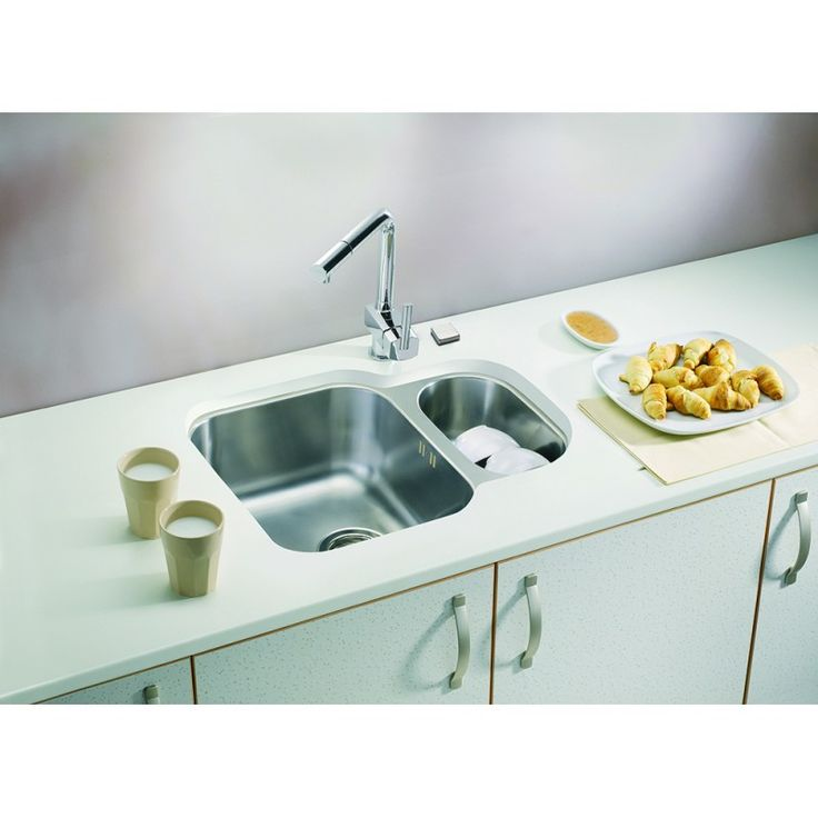 CHIUVETA DE BUCATARIE ALVEUS COLLECTION DUO 70 INGROPAT IN BLAT ,INOX,INCLUS SIFON POP-UP - Iak