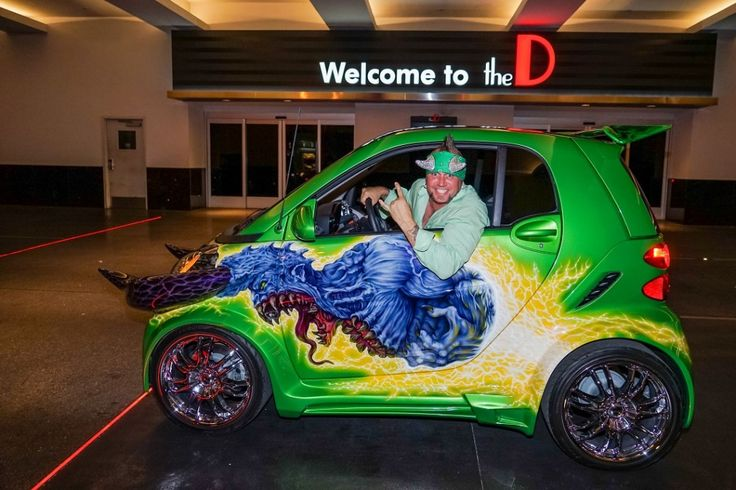 Roli From Counting Cars | Horny Mike in Counting Cars smart car at the D Las Vegas