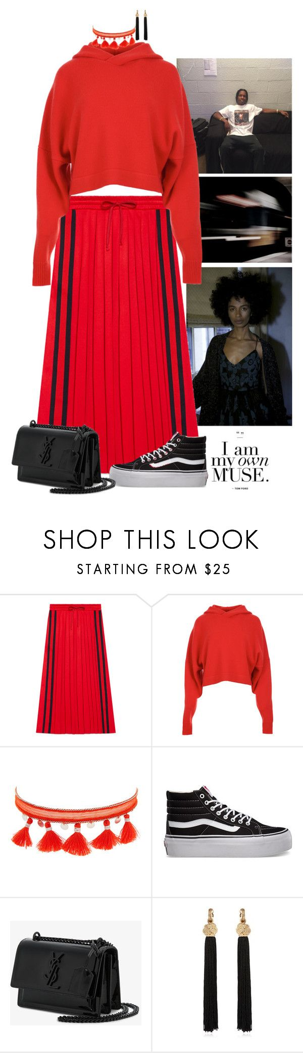 """""""I am My own MUSE"""" by swankt on Polyvore featuring Tracy Reese, Gucci, TIBI, Chan Luu, Vans and Yves Saint Laurent"""