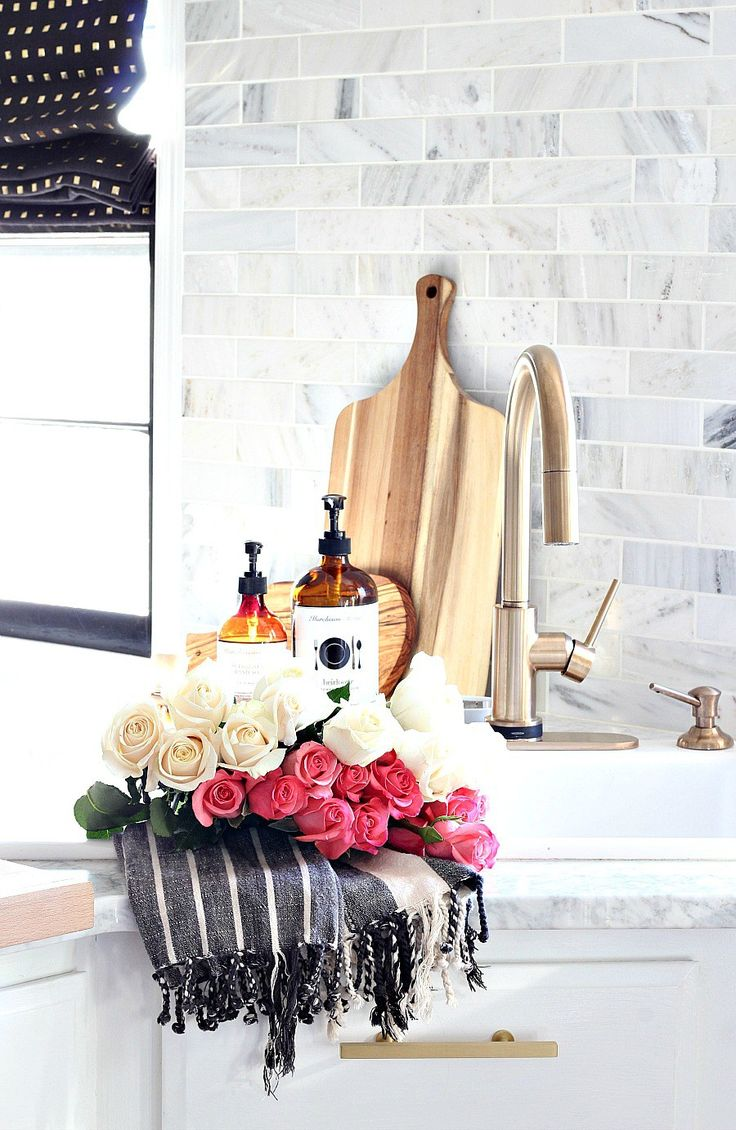 Bliss at Home Kitchen Makeover Reveal Delta Touch 2.0 Trinsic Faucet