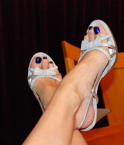 blue toe nails - I thought red, but my mother of the groom dress IS navy. ...