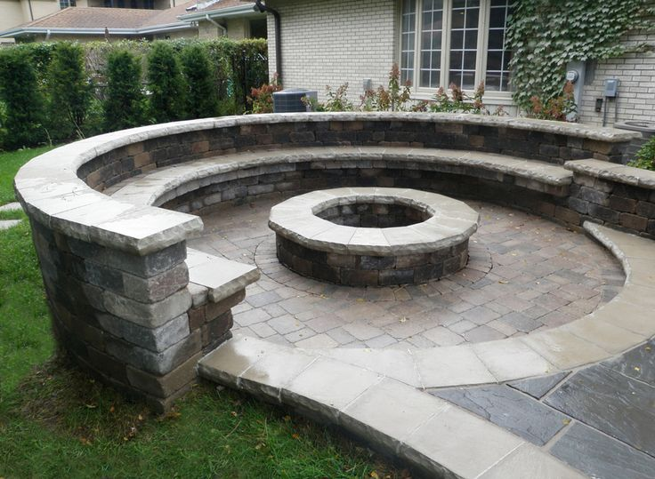 17 best images about stone patio firepit on pinterest for Prefab fire pits