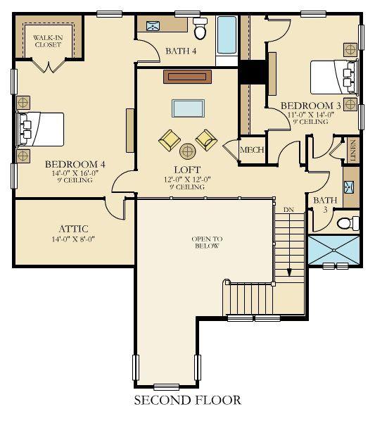 Rosalie New Home Plan In Beachwalk: Dorado By Lennar