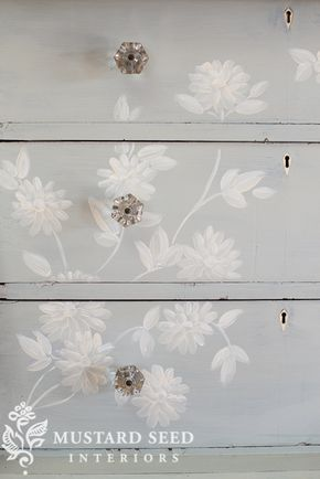 I shared this hand painted dresser last week and, as promised, I'm now sharing more detail on the hand painted design. First of all, I'm always asked if my hand painted designs are stencils. No, they are hand painted. I know that will immediately lose some folks when I say that, because a lot of people don't feel comfortable with ... Read More