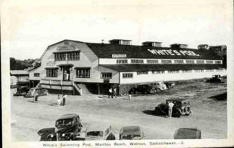 """White's Swimming Pool, Manitou Beach, Watrous, Saskatchewan."" | Saskatchewan Archival Information Network (SAIN) Photographs"