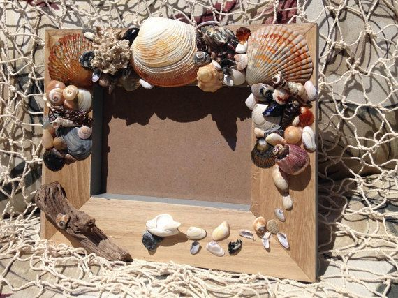 Sea Shell 10 Picture Frame di BeachWalkerCrafts su Etsy