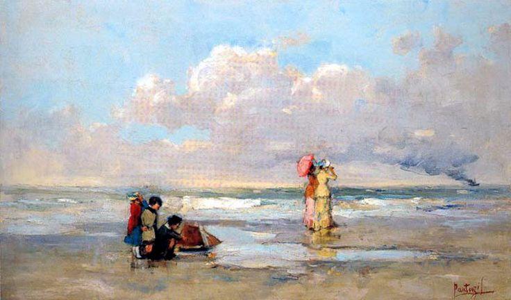 Περικλής Πανταζής, Στην παραλία. 1879. Συλλογή Εμφιετζόγλου.
