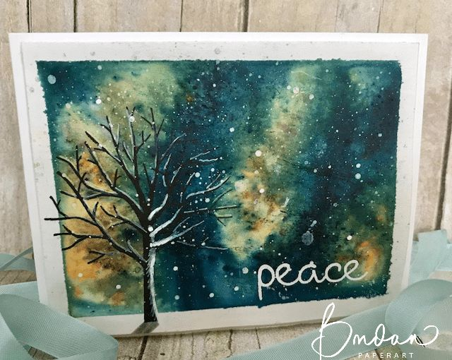 Brusho Peace... | Rambling Rose Studio | Billie Moan