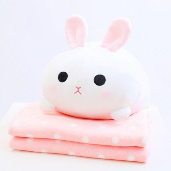 Bunny Pillow Blanket Kawaii Plushies Kawaii Room Cute Pillows