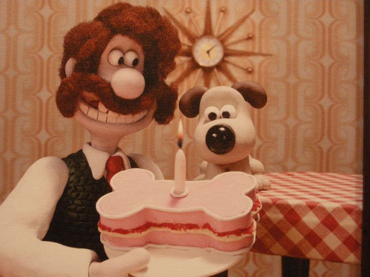 Wallace & Gromit, the early years. This is too funny and too cute for words! <3