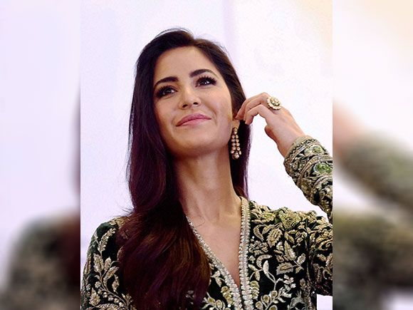 Katrina Kaif gestures during the Priyadarshini Academy Global Awards