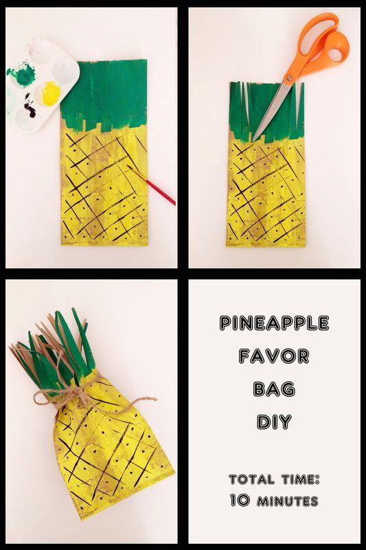 DIY attempt: Pineapple Favor Bag