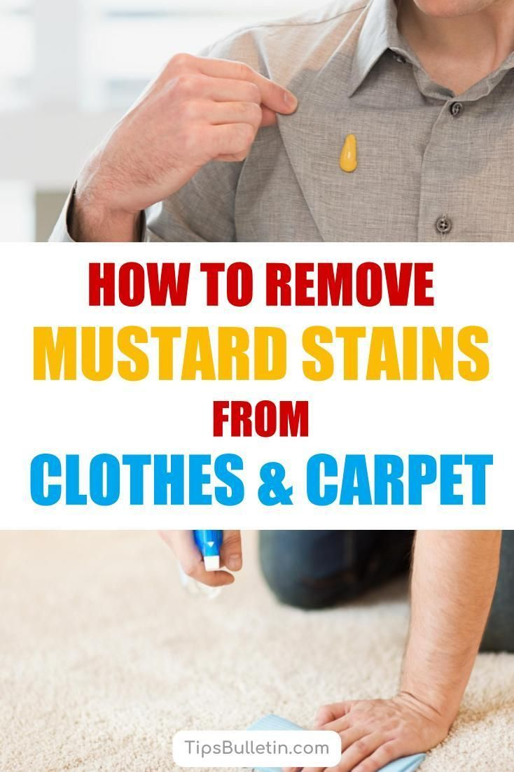 how to get mustard out of clothes home remedies