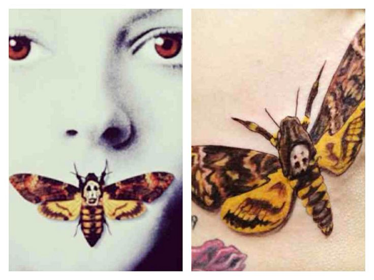 Silence of the lambs tattoo. Why have I never thought of this?! Ok- this is my next tattoo after my Ohana haha