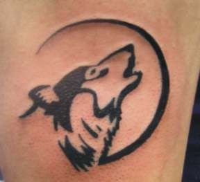 wolf moon tribal by zombiebe10u - very remus lupin