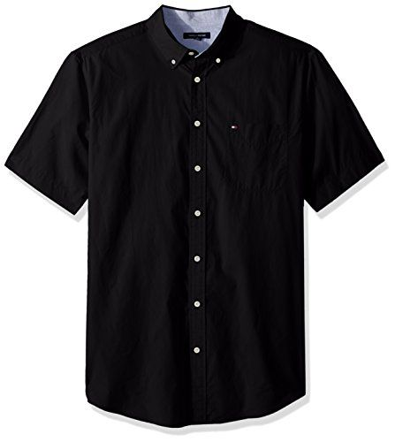 7a5286351 Tommy Hilfiger Men s Big and Tall Button Down Short Sleeve Shirt Maxwell  100% Cotton Imported Button closure Machine Wash Tommy Hilfiger big and tall  button ...