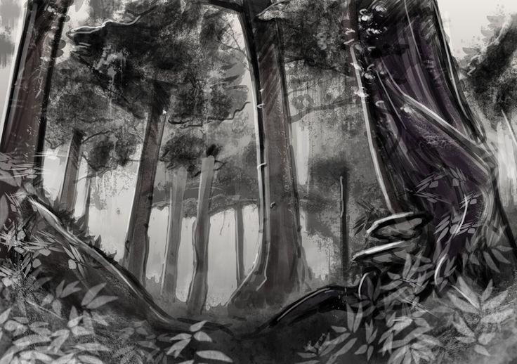 Forest in monochrome by seantriana