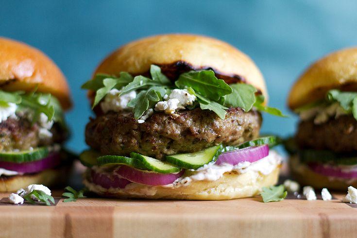 Mediterranean Lamb Burger from www.aidamollenkamp.com