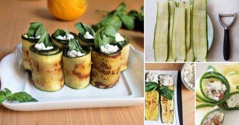 Rápidos+rollitos+de+zucchini+rellenos+de+espinaca+y+ricota