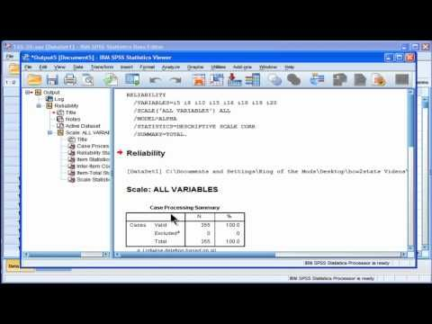 Cronbach's Alpha - SPSS (part 1) - YouTube