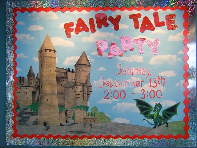 Preschool Christmas Classroom Decorations ~ Fairy tale party bulletin board awesome boards