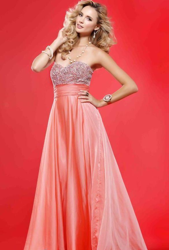 Peach Prom Dress 2012