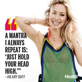 After taking two years off to spend time with her young son, Hilary Duff is back with a big album, a buzz-worthy TV show, and a grown-up take on body confidence. | Health.com