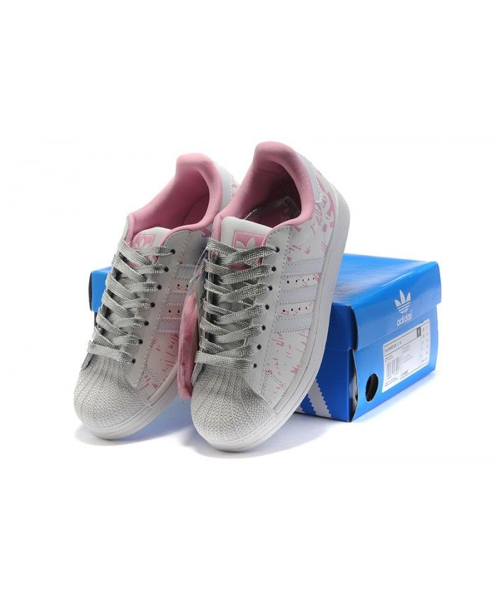 Adidas Superstar Womens Classic Style Pink And Grey Shoes On Sale ... 33a61b5a0093