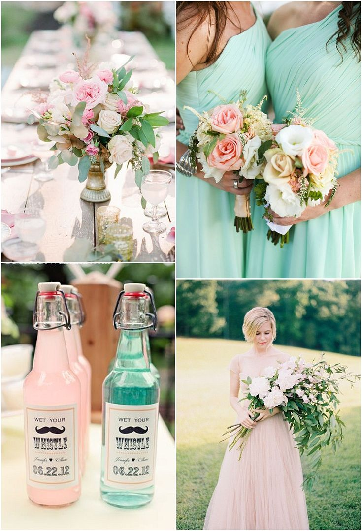 Mint and Pink wedding ideas. We can recreate this theme for you! http://www.creativeambianceevents.com @kelsohallo