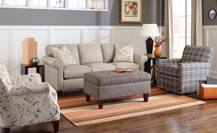 Craftmaster 742100 Transitional Sleeper Sofa with Sock-Rolled Arms - Colder's Furniture and Appliance - Sofa Sleeper