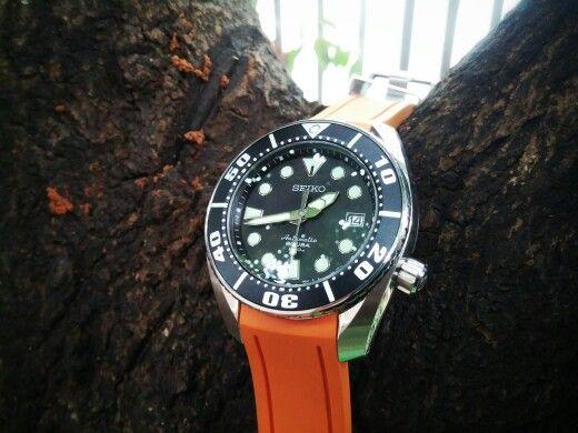 Seiko SBDC001 with Orange CrafterBlue Strap