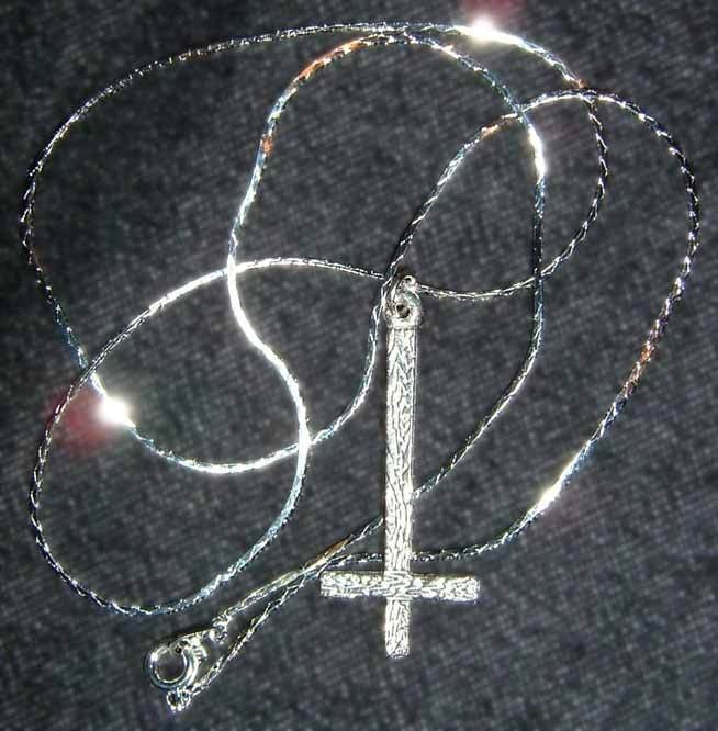 Inverted Cross Pendant Necklace Free Temporary Tattoo and Free Ship! Hail Satan US $7.77 http://www.ebay.com/itm/Inverted-Cross-Pendant-Necklace-Free-Temporary-Tattoo-and-Free-Ship-Hail-Satan-/251211880646?pt=LH_DefaultDomain_0=item3a7d6518c6