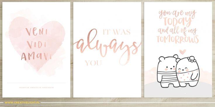 Walentynkowe kartki i plakaty – ode mnie dla was!