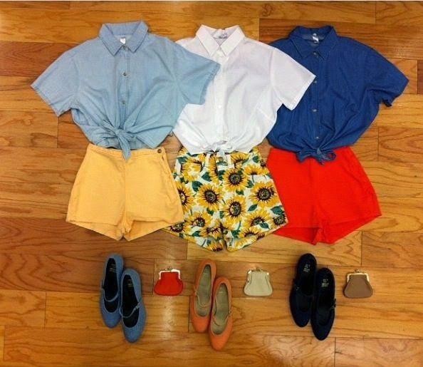 Como combinar blusinhas com sua saia/calça/short!