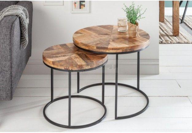 Zestaw Dwoch Law Drewnianych Do Salonu Boost Lawa 2 W1 Boost Side Table White Side Tables Tray Table