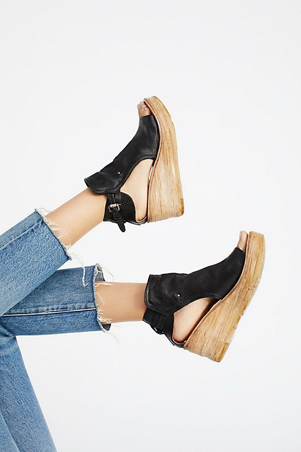 Nathan Leather Wedge by A.S. 98 at Free People