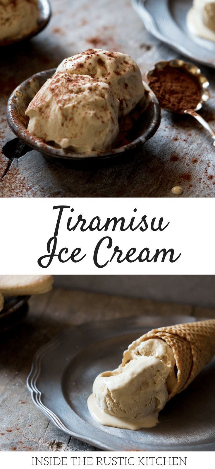 Tiramisu ice cream recipe with all the classic flavours of tiramisu this ice cream is silky smooth and delicious. Authentic Italian gelato, Authentic Italian recipes, Traditional Italian recipes and Italian Desserts at Inside the rustic kitchen