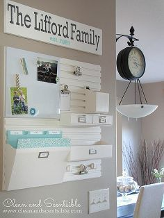 Fantastic Family Command Center Ideas :: Keri @ {shaken together}'s clipboard on Hometalk :: Hometalk