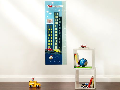 City Skies Growth Chart | Wall Decal