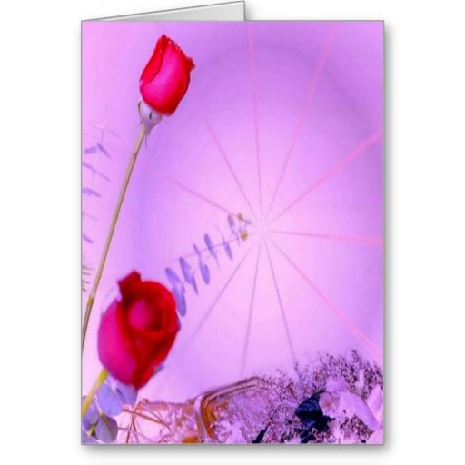 Red Roses - Thinking of You Card by elenaind (Elena Indolfi) #ZAZZLE