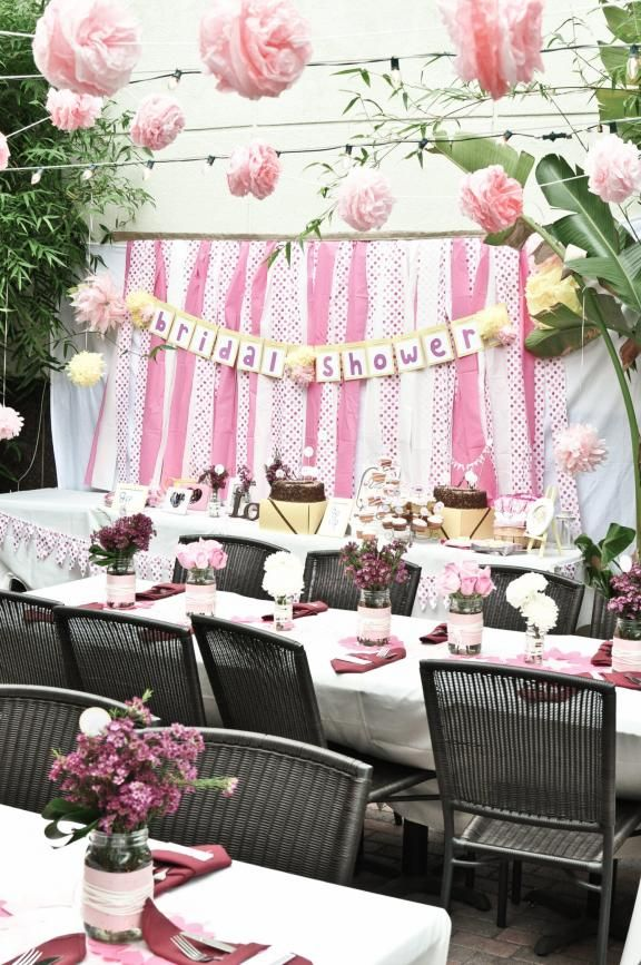 Ordinary Outdoor Bridal Shower Decoration Ideas Part - 8: Pink, White And Polka Dot Hello Kitty Bridal Shower- Totally Love This Idea!