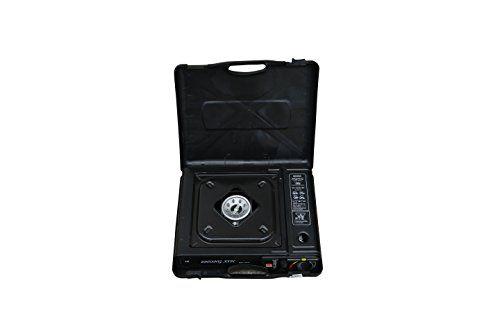 "Camp Life Stainless Portable Gas/Enamel Frame Propane Stove Burner, 13 x 11"", Black"