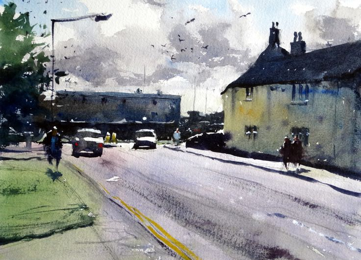Watercolour of Yate Town Centre #bristol