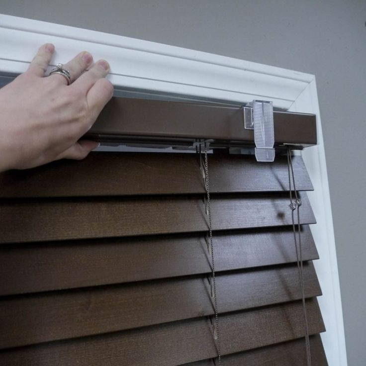 how to install wood blinds and faux wood blinds