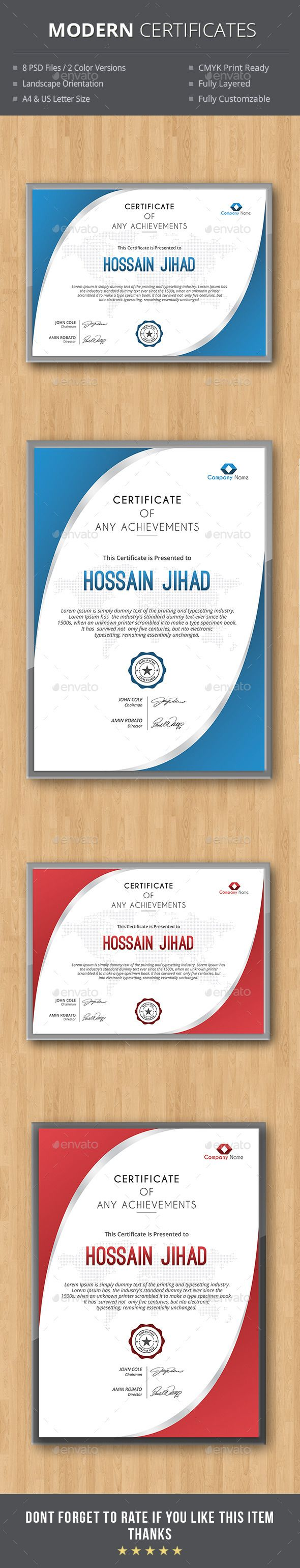 80 best diplome et certificat images on pinterest certificate modern certificates template psd download here httpgraphicriver yelopaper Choice Image