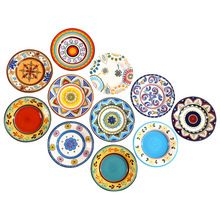 Hot Exotic Hand-painted Moroccan Italy Bohemian Style Dinner Plate 8.5 Inch Colorful Salad Plates Dining Decoration Plate Gifts(China (Mainland))