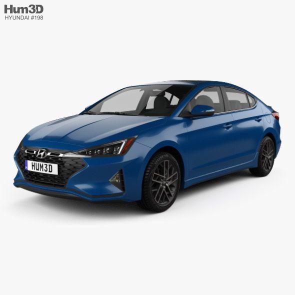 Hyundai Elantra Sport Premium 2019 Fully Editable And Reusable 3d Model Of A Car 3d 3dmodel 3ddesign 2019 2022 4 Door A In 2020 Hyundai Elantra Elantra Hyundai