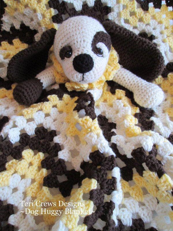 Dog Huggy Blanket Crochet Pattern by Teri Crews PDF Format Instant Download. $4.95, via Etsy.