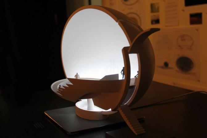Broken Egg installation by Ingo Maurer   UNIQUE